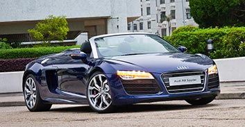 Hire an Audi R8 Spyder in Portugal