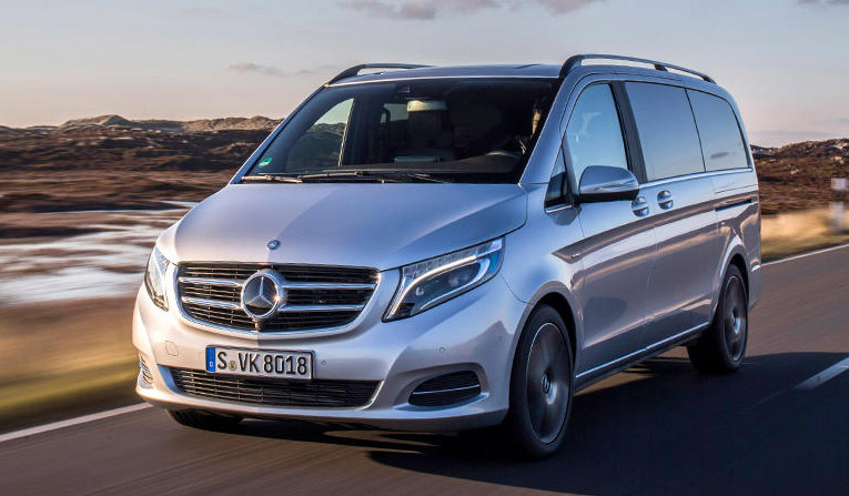 Rent a Mercedes V Class in France